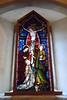 stained glass window in side chapel by Margaret Stranks