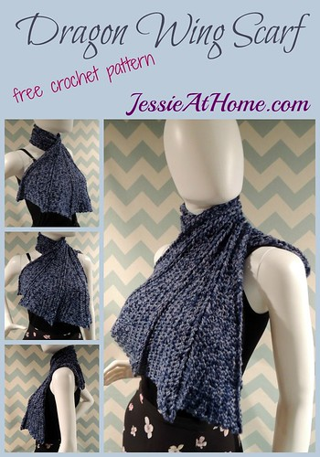 Crochet Dragon Wing Scarf Jessie At Home