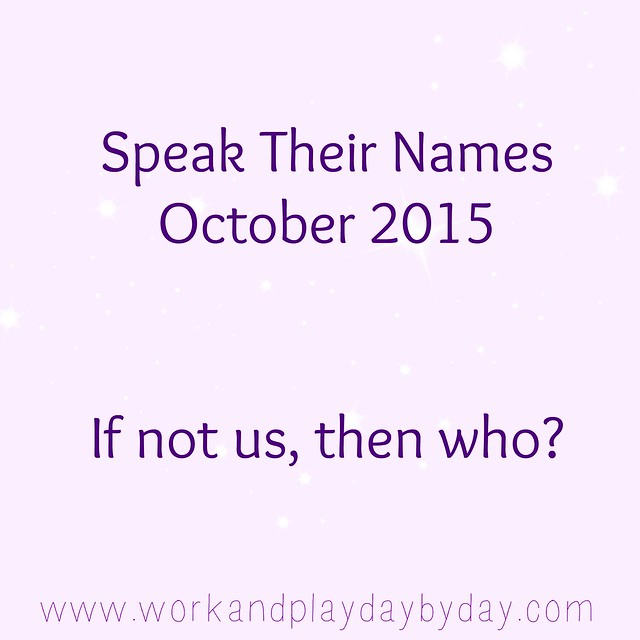 Speak Their Names 2015
