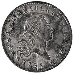 Princeton 1795 Half Dollar obverse