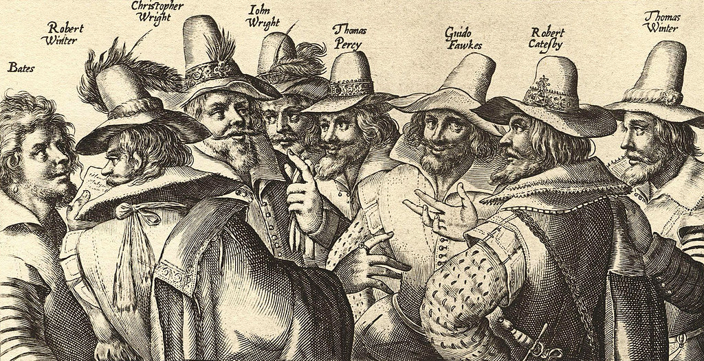 Detail from a contemporary engraving of the Gunpowder Plotters.