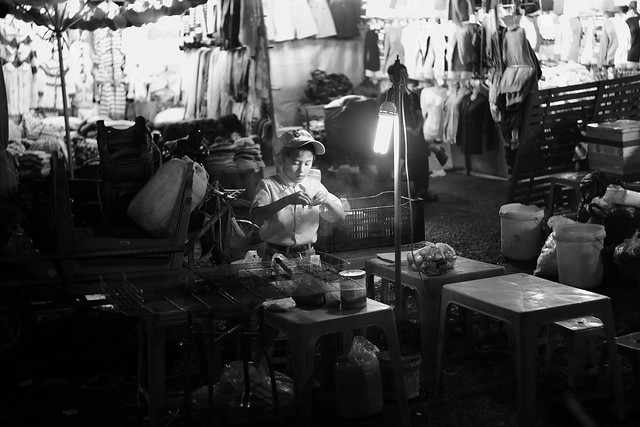 A little boy in Dalat market, Vietnam