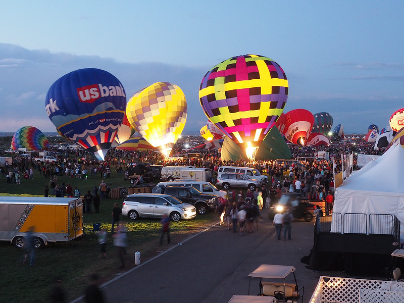 Albuquerque International Balloon Fiesta Twilight Glow