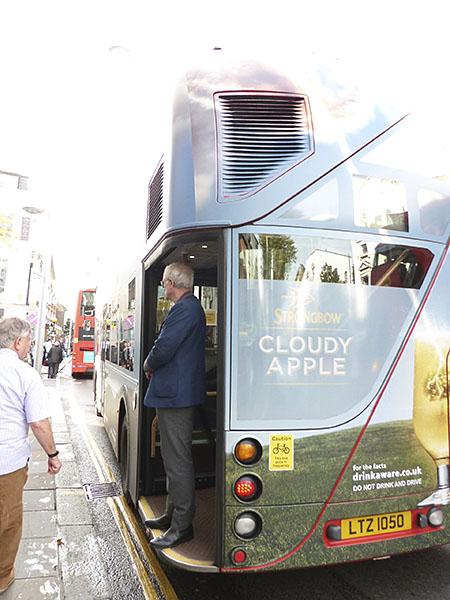 cloudy apple bus