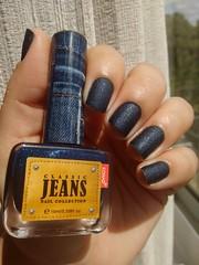 Mani de Aniversário: Mid Night Blue Jeans - Konad <3