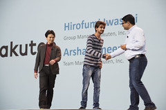Arshal Ameen, Hirofumi Iwasaki and Anil Gaur, Java Keynote, JavaOne 2015 San Francisco