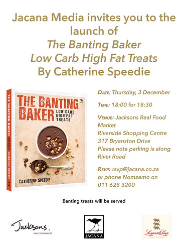 Invitation to the launch of The Banting Baker