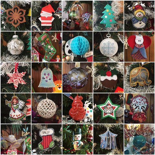 25 Christmas decorations in 25 days - 2015 mosaic