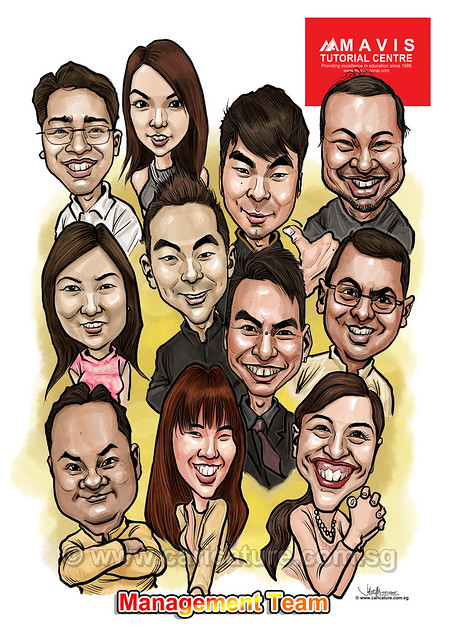 digital group caricatures for Mavis Tutorial Centre (watermarked)