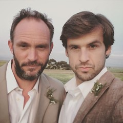 Well hello there... sexy... you looking at us? :smirk: true :heart:️with this ninja! #movie #feature #actor #setlife #vanfilm #van #vanmovie #funnyguy #brother #posers #pout #studs #realmen #wedding