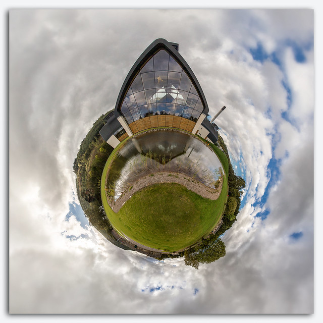The Dalmunach distillery, Little planet.jpg