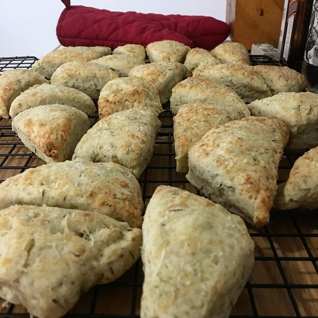 Gruyère & Thyme scones for a Tuesday morning carb boost