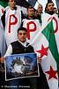 Syrer protestieren in Berlin gegen die Bombardierung Aleppos