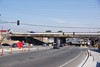 View of Highway 4 overpass from eastbound side.