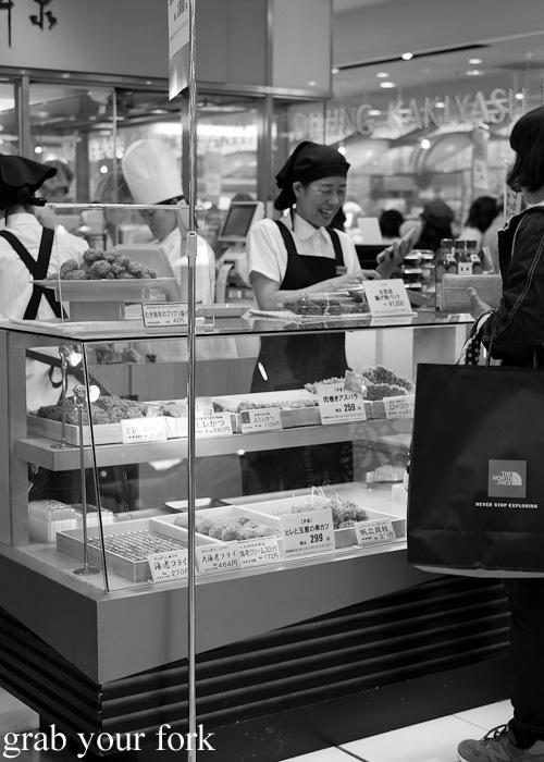 Croquette stall at Daimaru, Sapporo