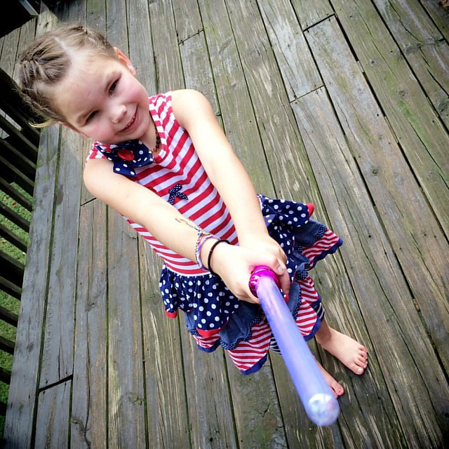 The Force is strong with this one. #starwars #pinklightsaber #fancyshouldbehermiddlename #maytheforcebewithyou