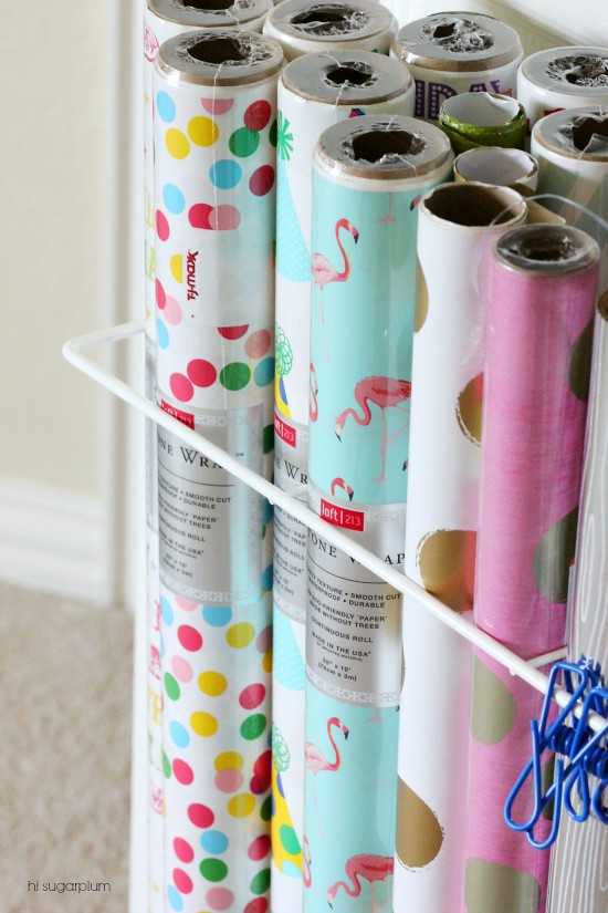 Hi Sugarplum | Organized Gift Wrap & Craft Supplies