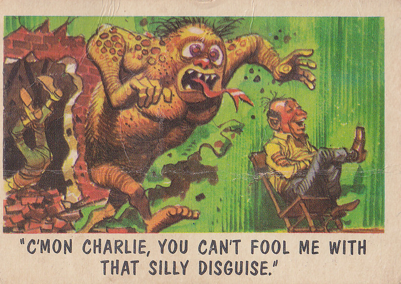 """You'll Die Laughing"" Topps trading cards 1959,  illustrated by Jack Davis (64)"