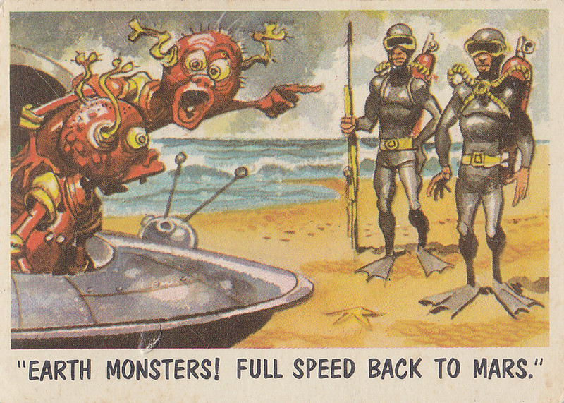 """""""You'll Die Laughing"""" Topps trading cards 1959,  illustrated by Jack Davis (11)"""