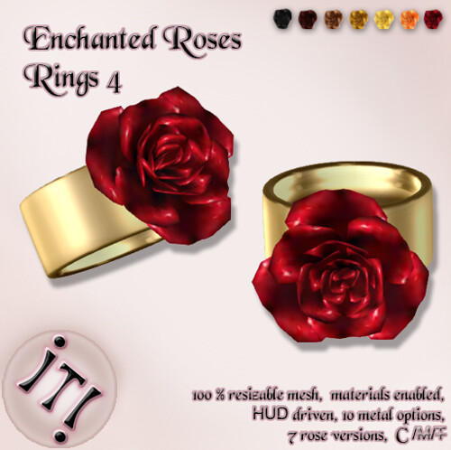 !IT! - Enchanted Roses Rings 4 Image