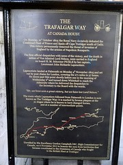 Photo of John Richards Lapenotiere and The Trafalgar Way black plaque