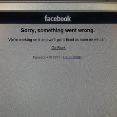 That awkward moment when #Facebook fails. #facebookdown #fail #epicfail #socialmedia #ohno
