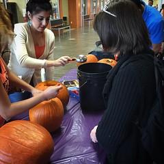 NLC students carving pumpkins!