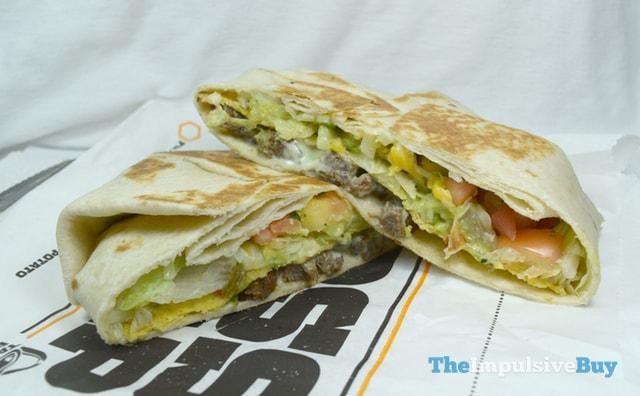 Taco Bell Fully Loaded Steak Boss Wrap