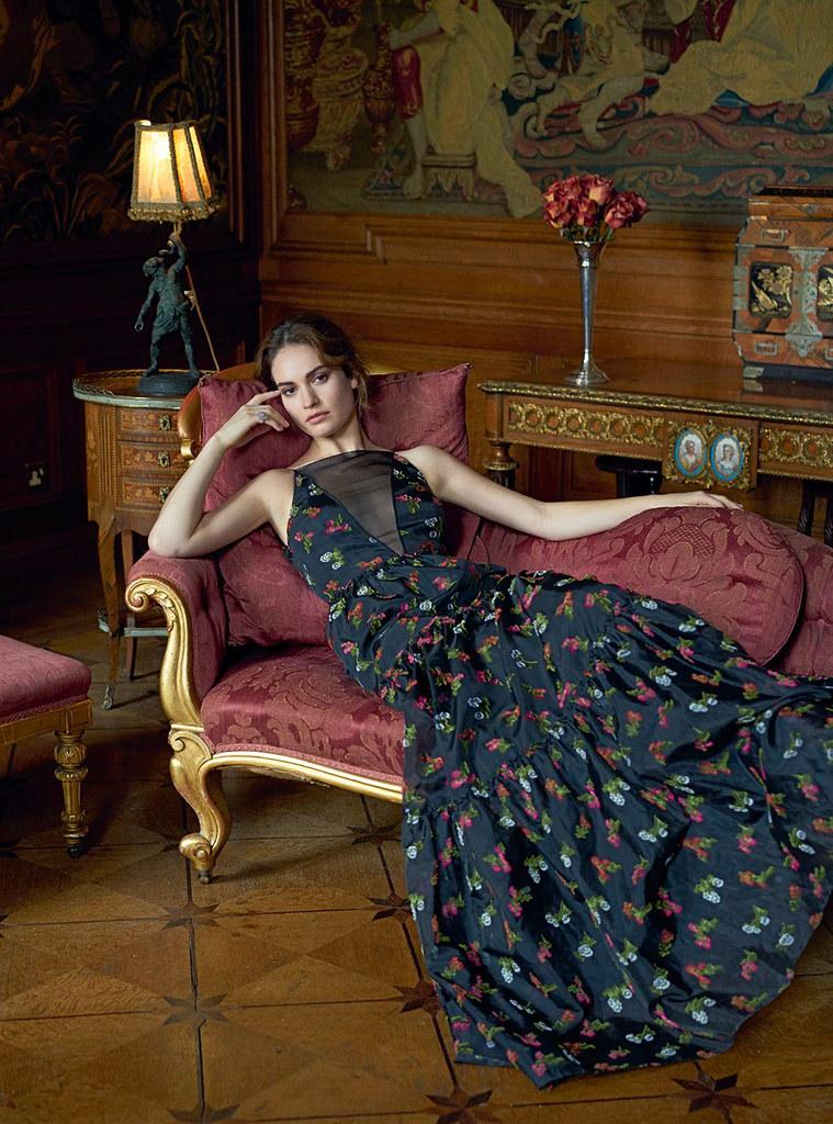 Лили Джеймс — Фотосессия для «Harper's Bazaar» UK 2015 – 3