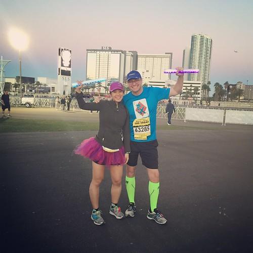 Mei and Dan before the 5k race.