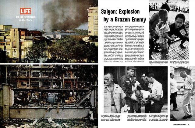 LIFE Magazine 1965 January 8 - SAIGON: Explosion by a Brazen Enemy - Sài Gòn: Vụ nổ bởi một kẻ thù táo tợn