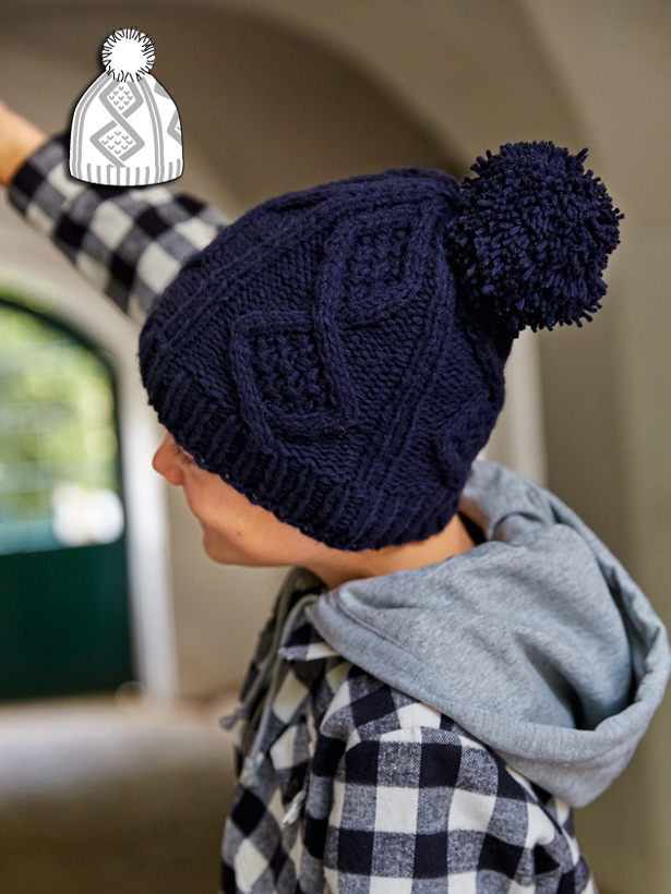 Knit Hat With Pom Pom 122015 141 Sewing Patterns Burdastyle