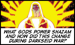 Who are the new gods that power Shazam?