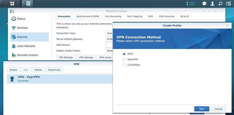 Synology Router RT1900ac - VPN Client
