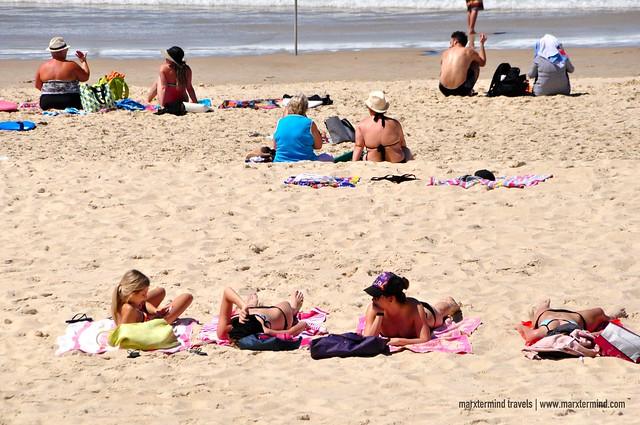 Sunbathing at Surfers Paradise Beach Gold Coast