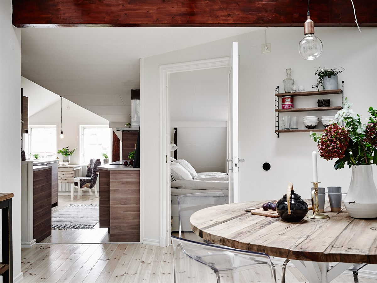 White Scandinavian Home Touches Green and Brown