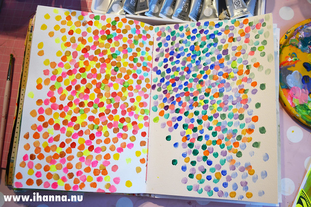 Art Journal Polka Dot Peek