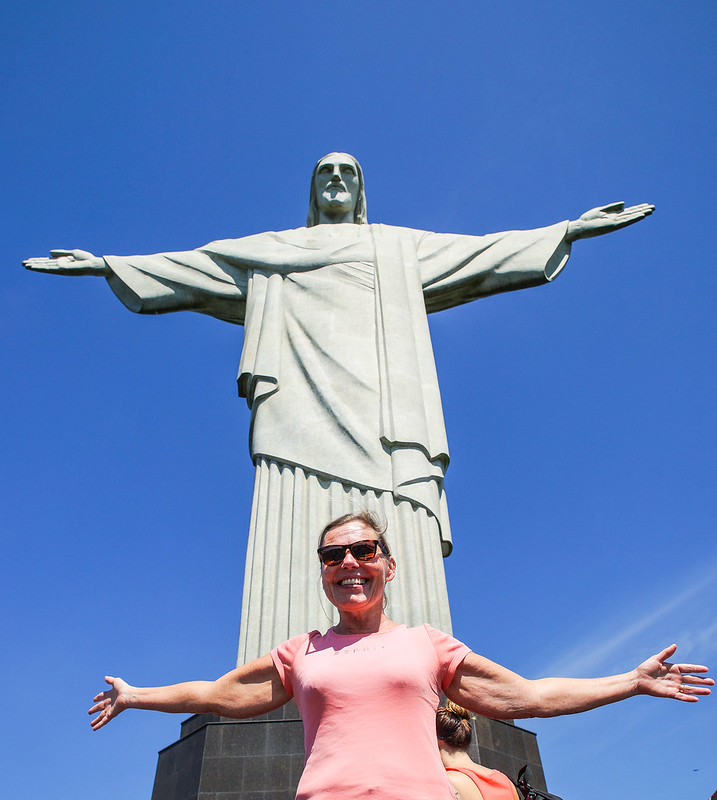 Tarja and Christ statue Rio de Janeiro Brazil Brasilia