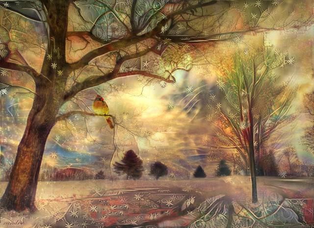 winter tree of peace