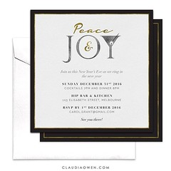 Peace and joy :cocktail:for this holiday season :evergreen_tree:#christmascards #christmasinvitations #invitations #holidays #holidayseason