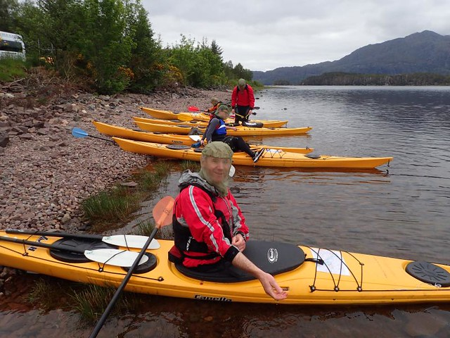 Silver Kayak training on Loch Maree