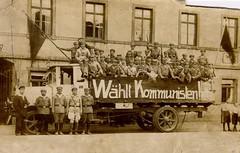 Wahlkampflastwagen der KPD zur Reichstagswahl 1928