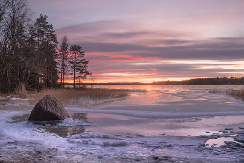 sunset snow ice beach rock finland nikon nikkor jyrki 2880mm kotka d600 salmi ruonala