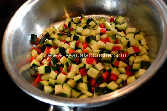 Blanc de Poulet Moutardé et son Sauté de Petits Légumes © Ana Luthi  Tous droits réservés 04