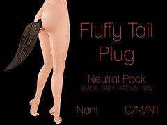 nani - fluffy tail plug (neutral) @ kinky monthly