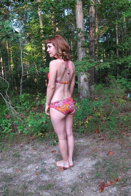 Paisley print Stretch & Sew Bikini - side back
