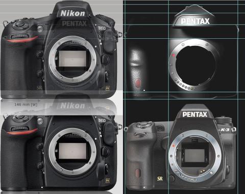 Nikon D810とPENTAXフルサイズの比較