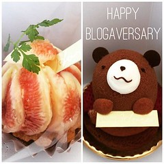 celebrating our blogaversary♡patisserie haré's fig tarte & haré bear #blogaversary #patisseriehare #ikeda #osaka #japan