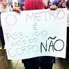O METRO PROTEGE AS CATRACAS E NÃO AS MULHERES.... Protesto no Metro Barra Funda - São Paulo contra os abusos sofridos pelas mulheres nos transportes públicos de todo Brasil...... Protest at Barra Funda Metro - Sao Paulo against the abuses suffered by wome by STUDIO ARTE1