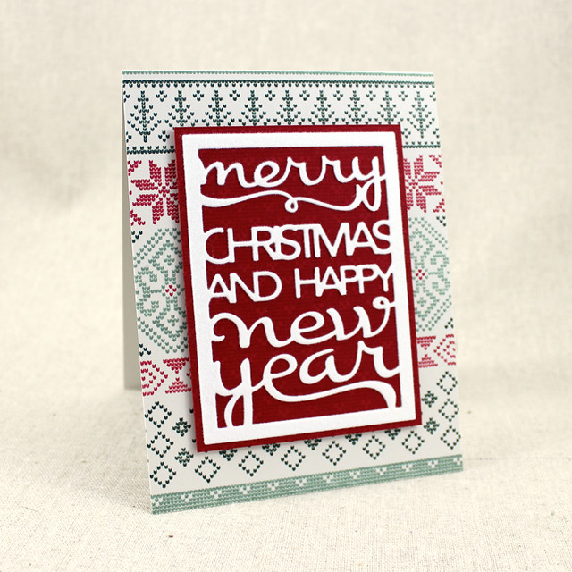 Fair Isle Text Block Card